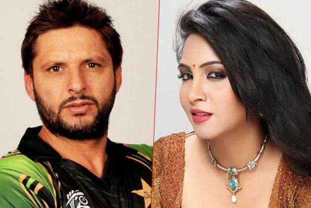 Shahid Afridi and Arshi Khan