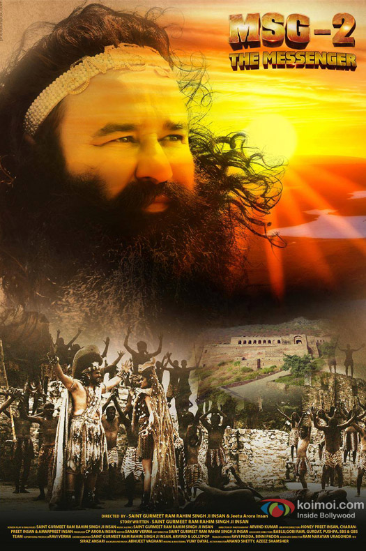 Saint Gurmeet Ram Rahim Singh Ji Insan starrer 'MSG-2 The Messenger' Movie Poster 2