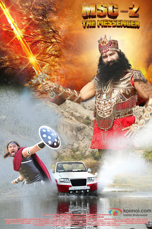 Saint Gurmeet Ram Rahim Singh Ji Insan starrer 'MSG-2 The Messenger' Movie Poster 4