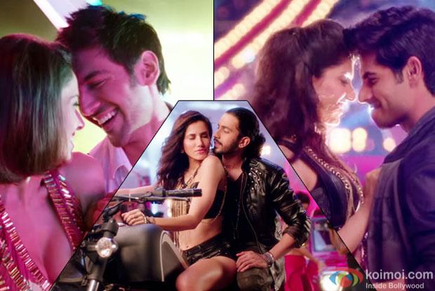 Kartik Aaryan, Sunny Singh, Omkar Kapoor, Nushrat Bharucha, Sonnalli Seygall and Ishita Sharma starrer 'Pyaar Ka Panchnama 2' movie still