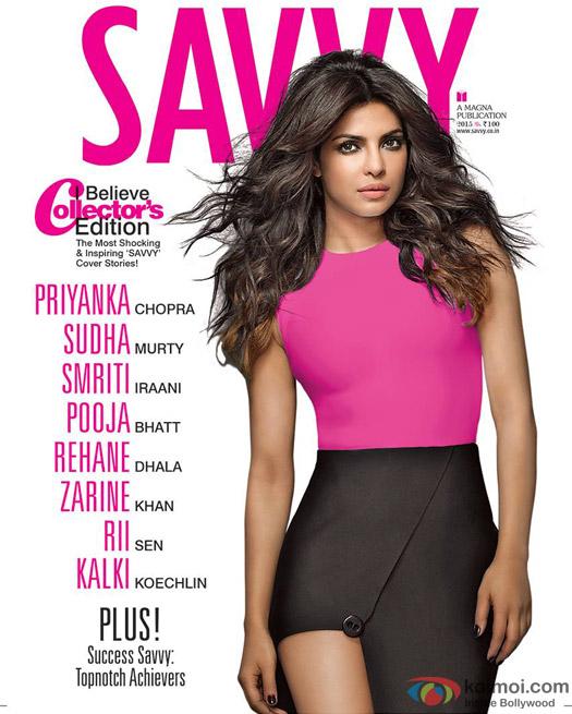 Priyanka Chopra Goes Pink On The Savvy Cover