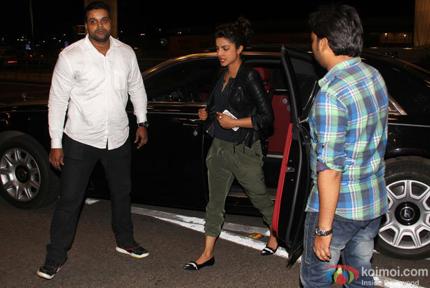Priyanka Chopra spotted at international airport