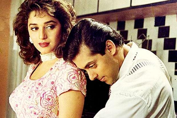 Madhuri Dixit and Salman Khan in a still from movie 'Hum Aapke Hain Koun'
