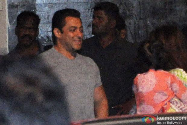Salman Khan during the Ganesh festival celebrations
