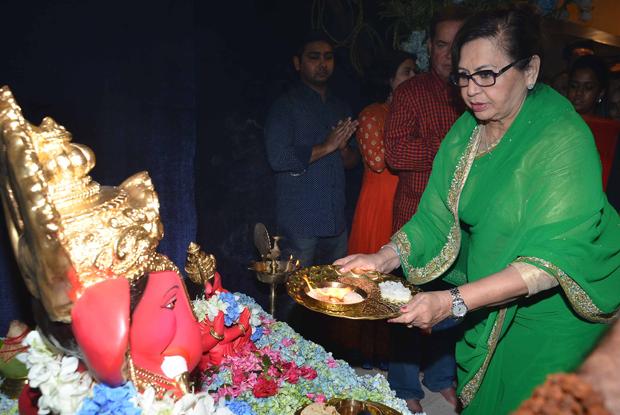 Helan during the ganpati visarjan