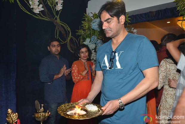 Arbaz Khan during the ganpati visarjan