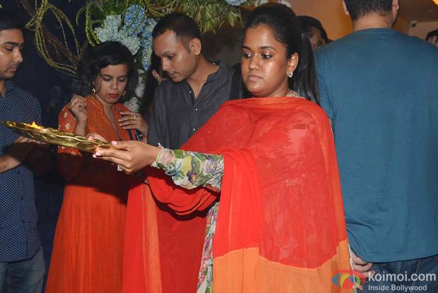 Arpita Khan during the ganpati visarjan