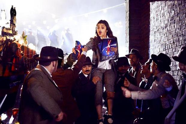 Alia Bhatt in a 'Gulabo' song still from movie 'Shaandaar'
