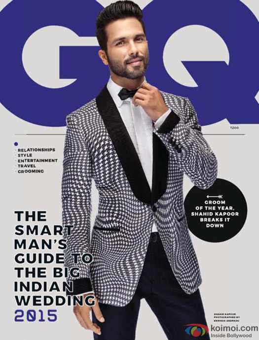 Shahid Kapoor On GQ Magazine Cover Page