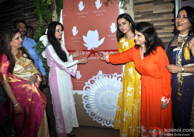 Padmini Kolhapure and Shraddha Kapoor during the Inauguration of IMC Ladies Wing Exhibition