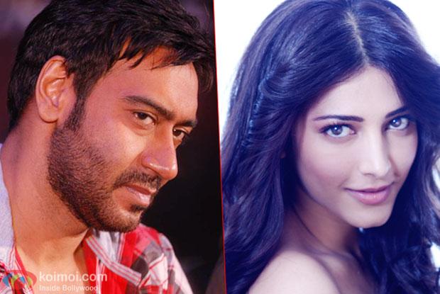 Ajay Devgn and Shruti Haasan