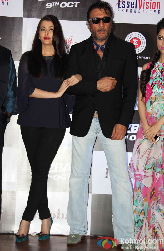 Aishwarya Rai Bachchan and Jackie Shroff during the Song launch of movie Jazba