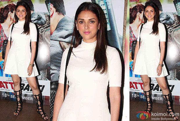 Aditi Rao Hydari during the screening of movie Katti Batti
