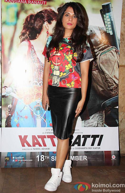Richa Chadda during the screening of movie Katti Batti