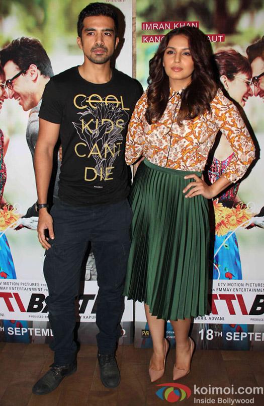 Huma Qureshi and Saqib Saleem during the screening of movie Katti Batti