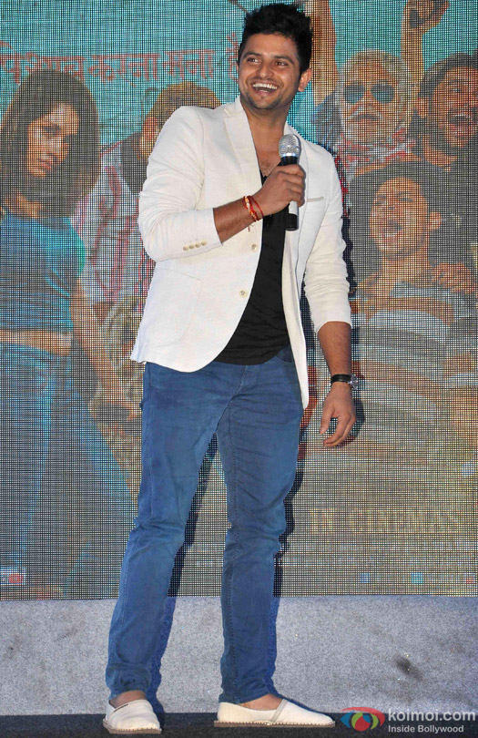 Suresh Raina during the launch of 'Meeruthiya Gangsters' music