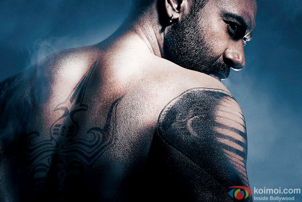 Ajay Devgn in a still from 'Shivaay' movie poster
