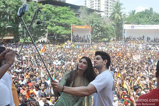 Athiya Shetty and Sooraj Pancholi during the Celebrating Dahi Handi