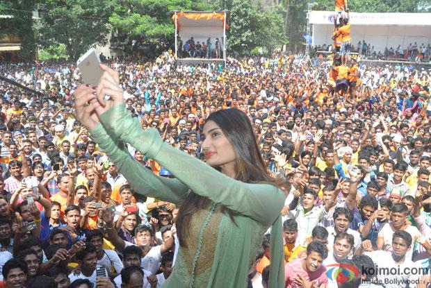 Athiya Shetty during the Celebrating Dahi Handi