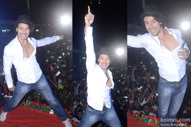 Tiger Shroff during the Celebrating Dahi Handi