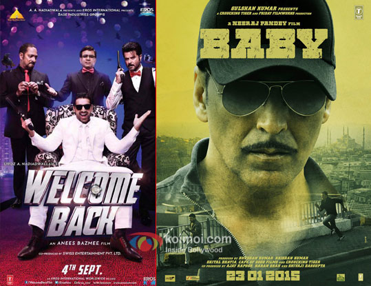 Welcome Back and Baby movie posters