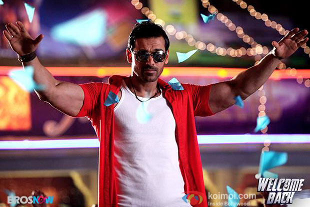 John Abraham in a still from movie 'Welcome Back'