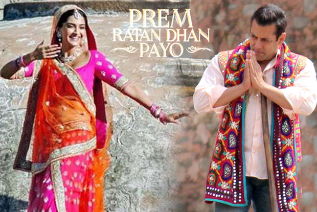 Sonam Kapoor and Salman on the sets of movie 'Prem Ratan Dhan Payo'