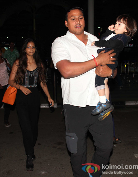 Suhana Khan and AbRam Khan spotted at airport