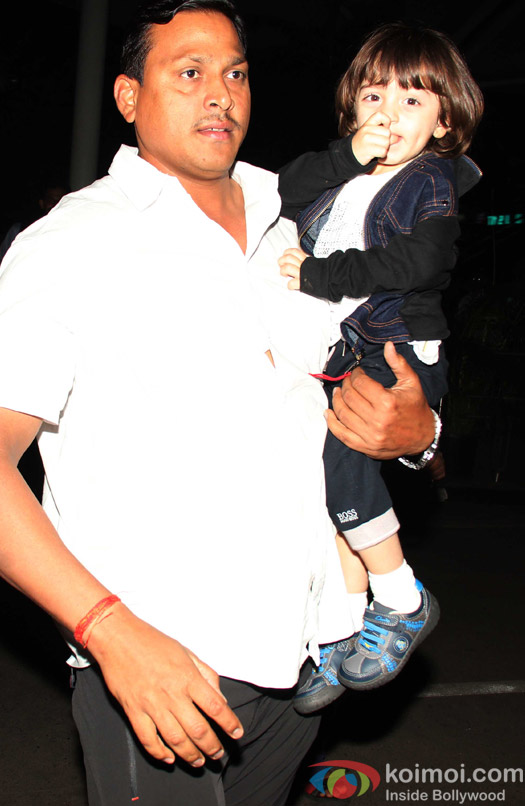 AbRam Khan spotted at airport