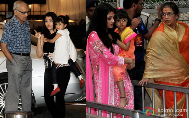 Aishwarya Rai Bachchan and her daughter Aaradhya