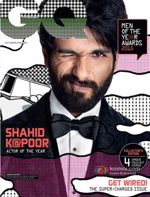 Shahid Kapoor On The GQ Magazine Cover