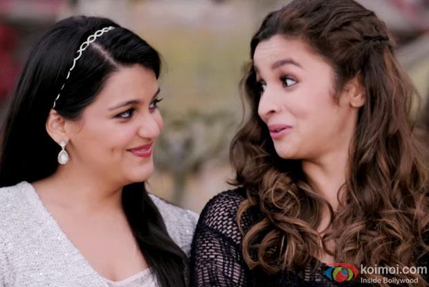 Sanah Kapoor and Alia Bhatt in a still from movie 'Shaandaar'
