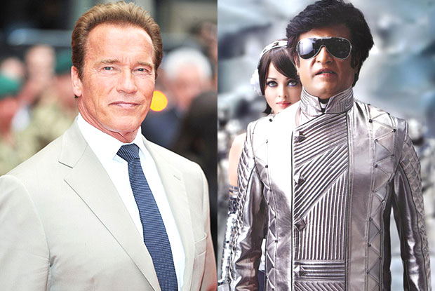 Arnold Schwarzenegger and Rajinikanth