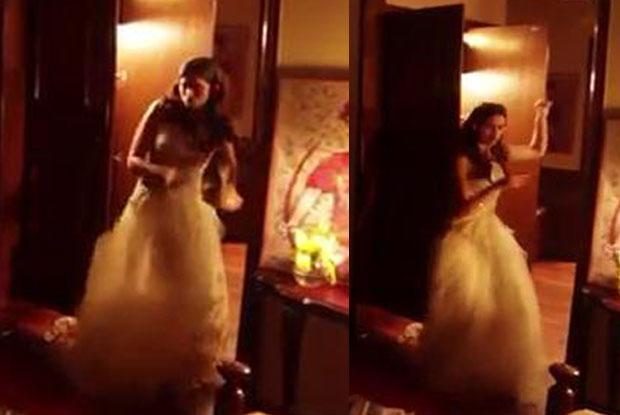 Deepika Padukone during the shooting of movie Tamasha