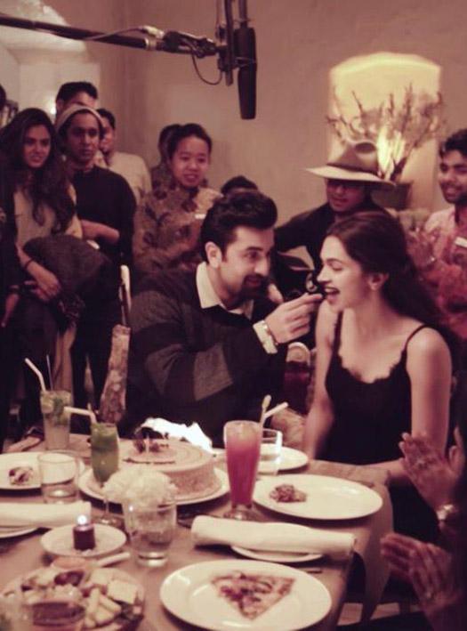 Deepika Padukone and Ranbir Kapoor during the shooting of movie Tamasha