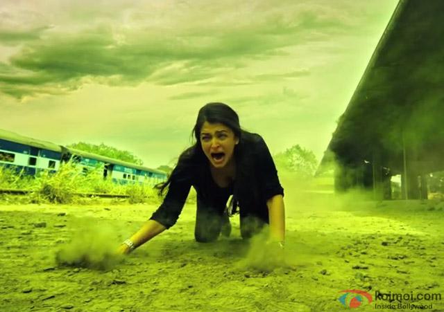 Aishwarya Rai in a still from movie 'Jazbaa'