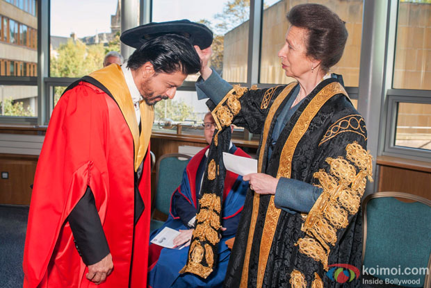 Shah Rukh Khan received the degree of Doctor Honoris Causa from the University Chancellor HRH The Princess Royal in Edinburgh