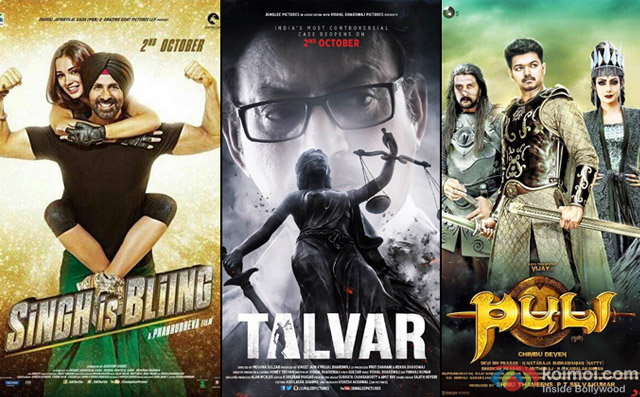 Singh Is Bliing, Talvar and Puli Movie Poster