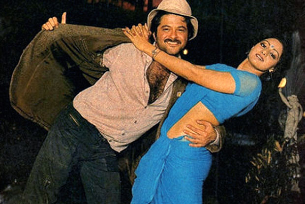 Anil Kapoor and Sridevi in still from movie Mr.india