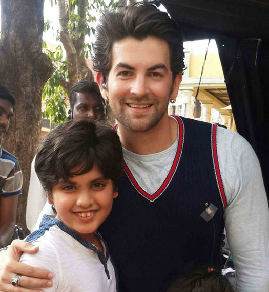 Neil Nitin Mukesh and Dhruv Kumar on the sets of movie Prem Ratan Dhan payo