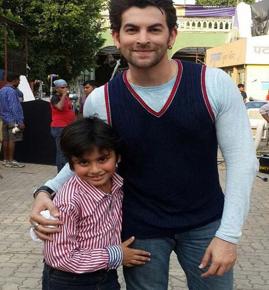 Neil Nitin Mukesh and Darsheel Kumar on the sets of movie Prem Ratan Dhan payo