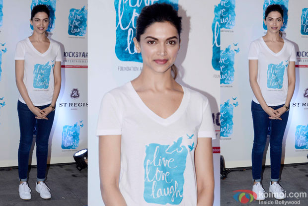 Deepika Padukone during the launch of her NGO The Live Love Laugh Foundation