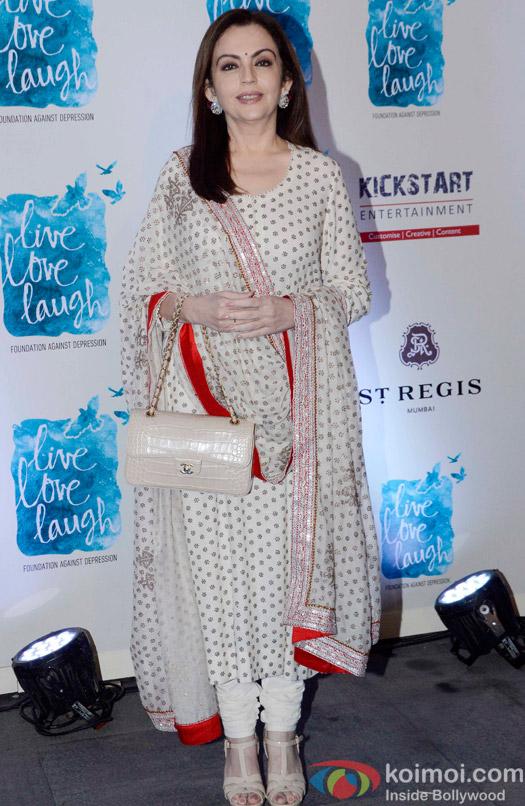 Nita Ambani during the launch of Deepika Padukone's NGO The Live Love Laugh Foundation
