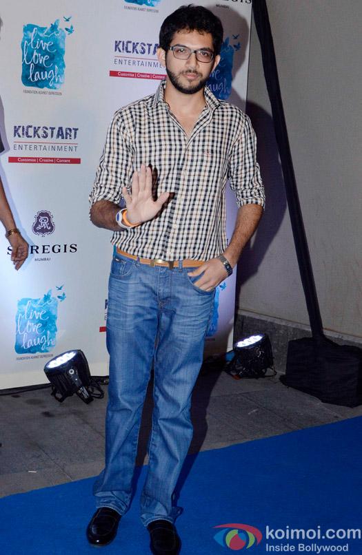 Aditya Thackeray during the launch of Deepika Padukone's NGO The Live Love Laugh Foundation
