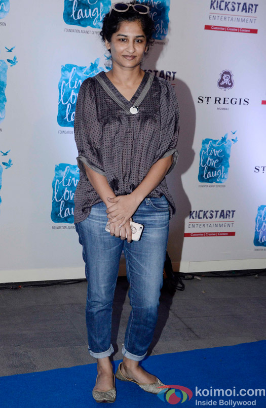 Gauri Shinde during the launch of her NGO The Live Love Laugh Foundation