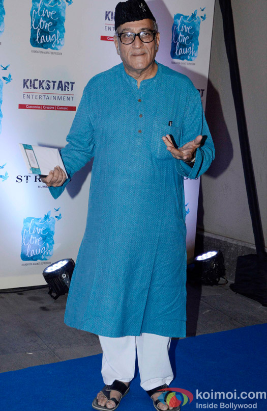 Mohan Agashe during the launch of her NGO The Live Love Laugh Foundation