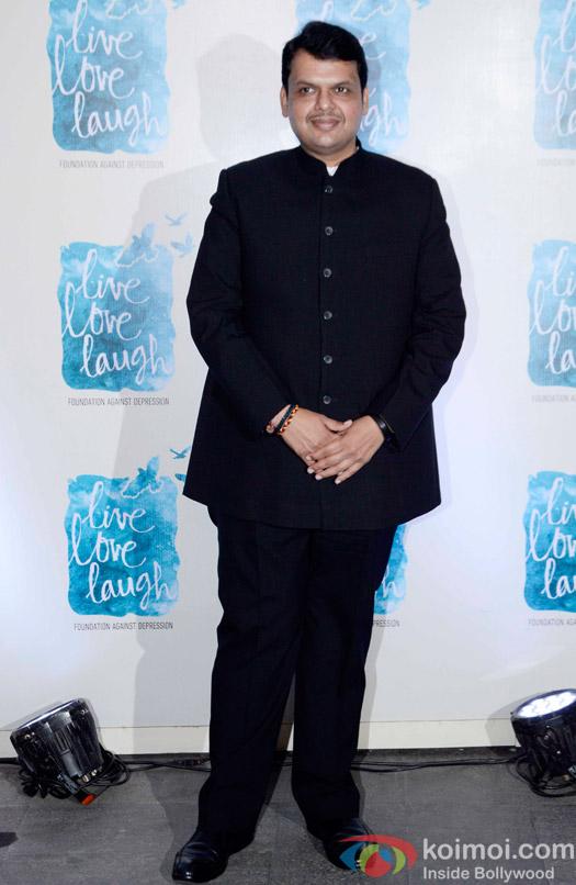 Devendra Fadnavis during the launch of Deepika Padukone's NGO The Live Love Laugh Foundation