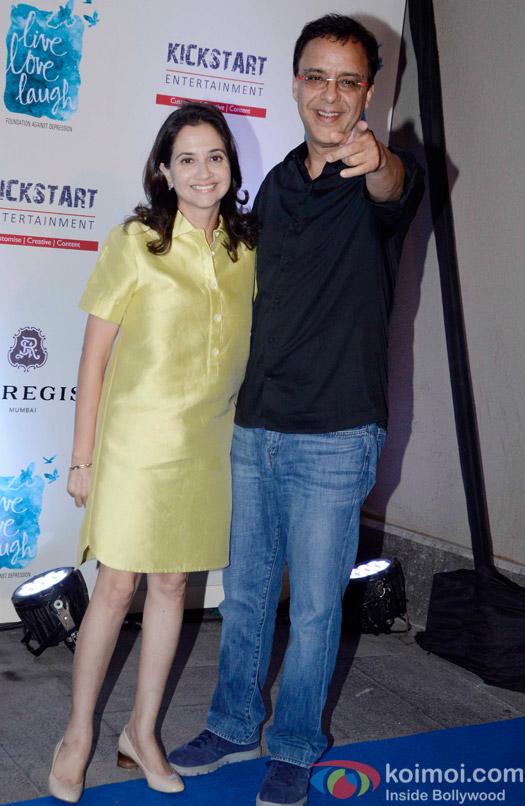 Vidhu Vinod Chopra and Anupama Chopra during the launch of Deepika Padukone's NGO The Live Love Laugh Foundation