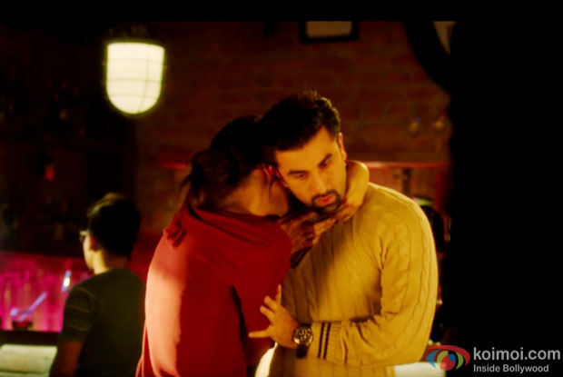 Deepika Padukone and Ranbir Kapoor in a still from 'Tamsha'