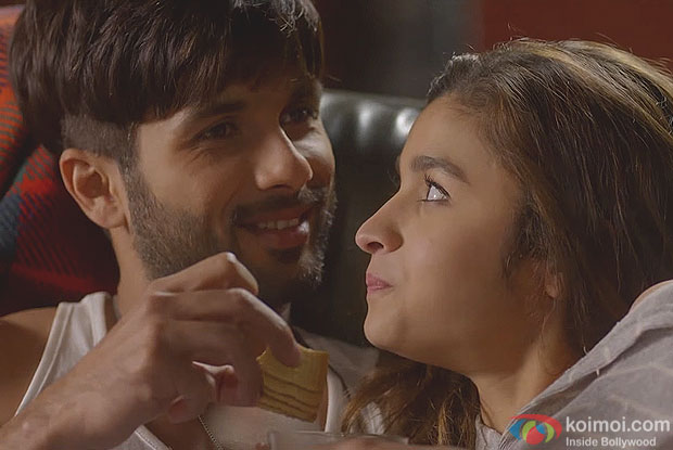 Shahid Kapoor and Alia Bhatt in a still from movie Shaandaar